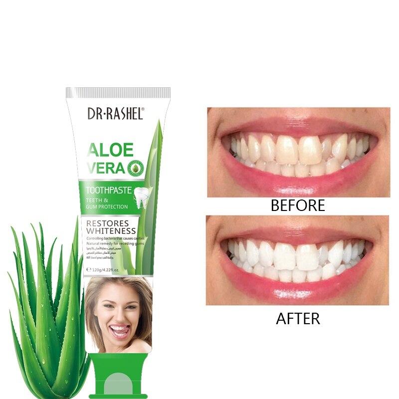Aloe Toothpaste Whitening Teeth Remove Oral Bacteria Dental Cream Teeth Cleansing K1