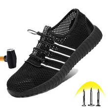 2020 New Fashion Safety Shoes Men's Breathable Mesh Surface Anti-smashing Puncture Light Steel Toe Cap Wear-resistant Work Shoes new exhibition fashion safety shoes men s breathable mesh anti smashing piercing lightweight steel toe cap wear site work shoes