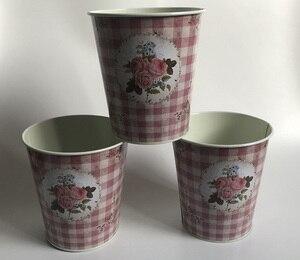 Image 3 - 10 ピース/ロットD12.5xH14cm小さな花瓶ポット金属植木鉢家の装飾の結婚式ポットの写真撮影の小道具