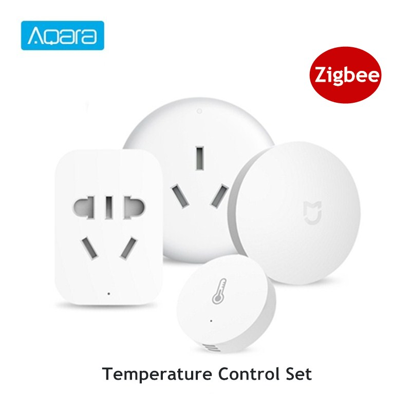 Clearance Aqara Smart Home Temperature Control Set Air Conditioner Controller Temperature Humidity Sensor Wireless Switch Outlet