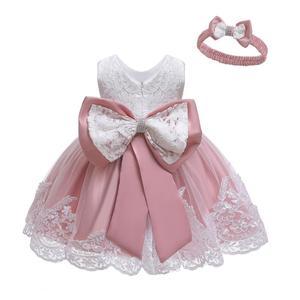 Vestido de verano para niñas, vestido de princesa con tutú de encaje para recién nacidos, vestido de fiesta de cumpleaños para bebés, vestido para niños, vestidos