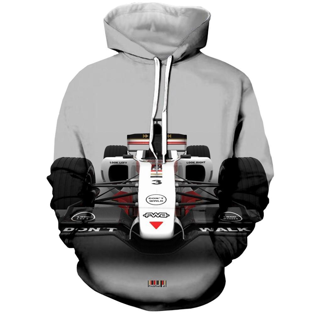 Автомобильная толстовка с капюшоном F1, Спортивная толстовка с 3D принтом, модная крутая гоночная толстовка с капюшоном для мужчин и женщин