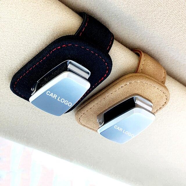 Portable Car Glasses Cases Ticket Card Clamp Car Sun Visor Sunglasses Holder For chrysler 300c 200 pacifica 1