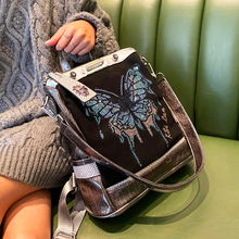 Stitching contrast color backpack women 2020 new diamond women's bag large capacity dual-use casual shoulder bag mochila mujer