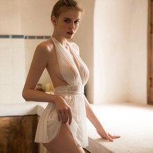 Nova fada monroe camisola sexy cor sólida rendas tentação feminino pijamas bordado casa pijamas rendas confortável