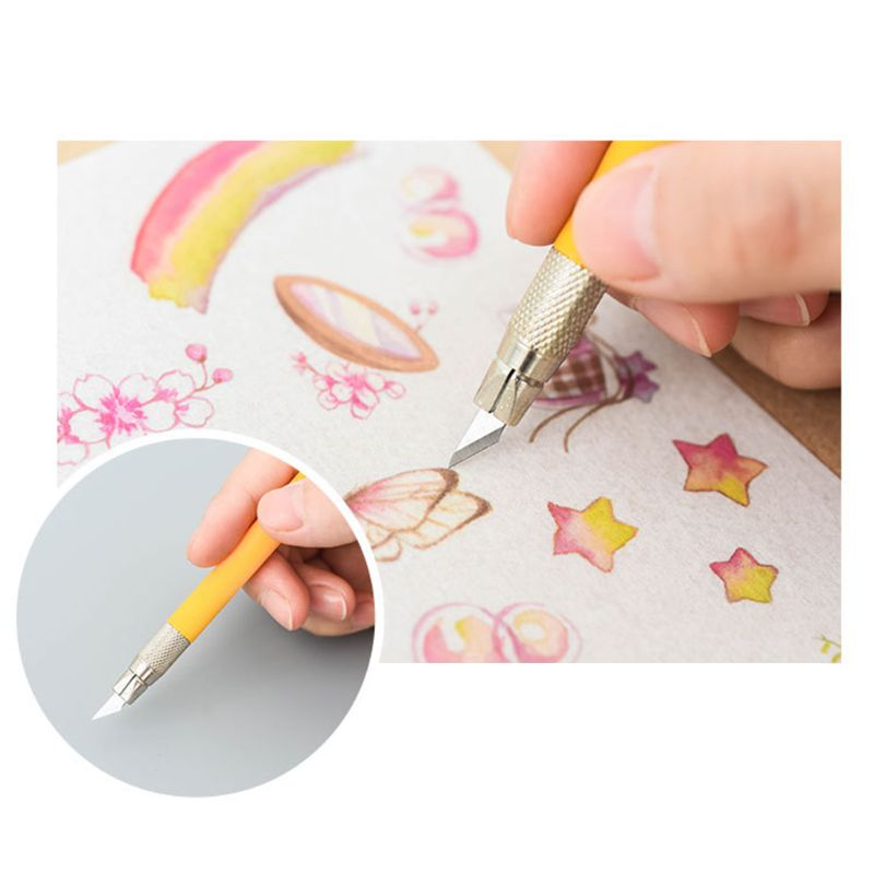 Rubber Stamp Carving Knife Hand Account DIY Photo Paper Cutter Razor Tool For Phone PC Tablet Drone Repair Cutting Knife G99B