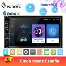 Android 8,1 автомобильный мультимедийный плеер 2 Din 7 ''HD сенсорный экран автомобильное радио Bluetooth GPS зеркальная связь WIFI Даш-камера FM радио