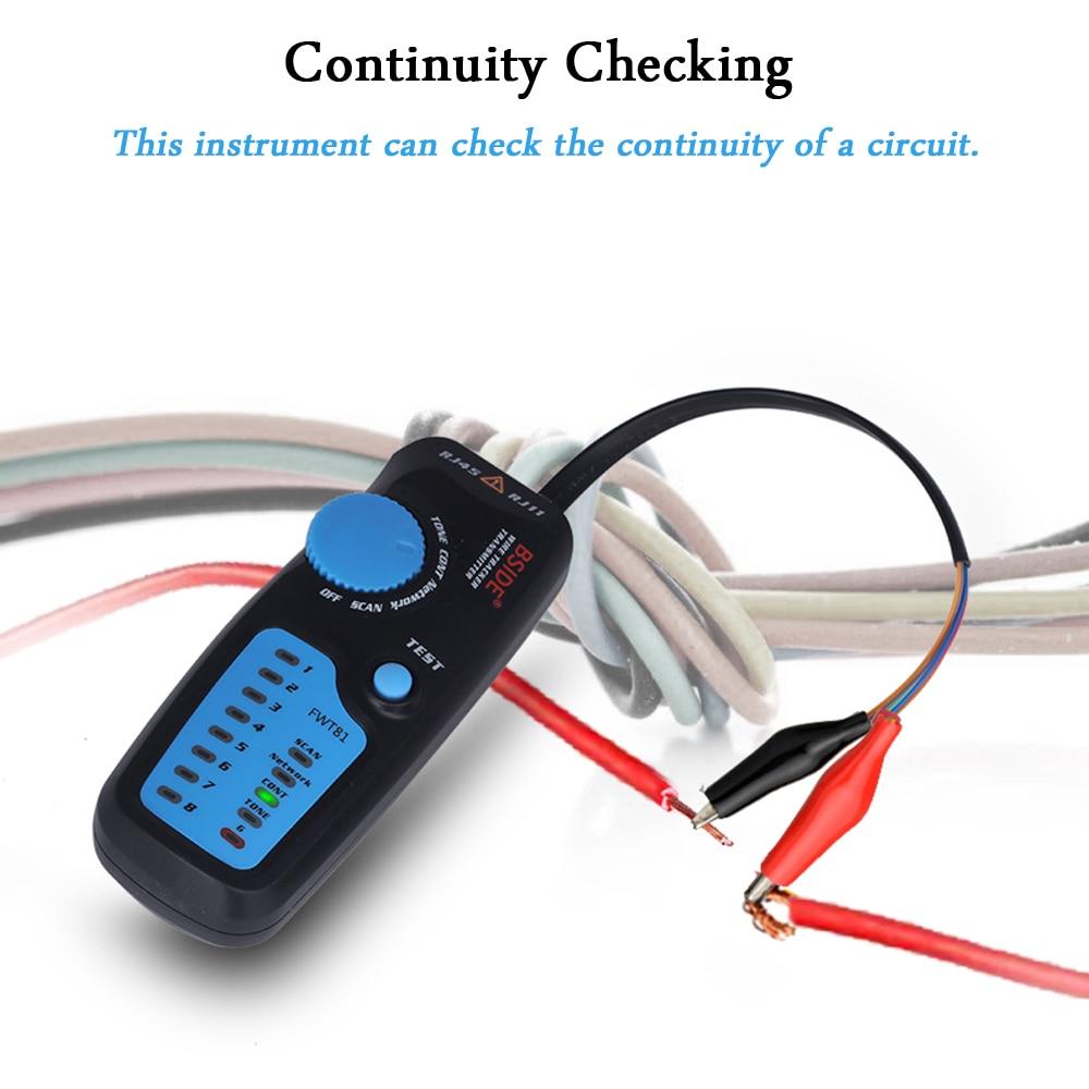 lowest price Network cable tracker detecteur BSIDE FWT81 RJ11 45 Lan Ethernet Phone wire tester Finder Telecom Tool electrified work 48V
