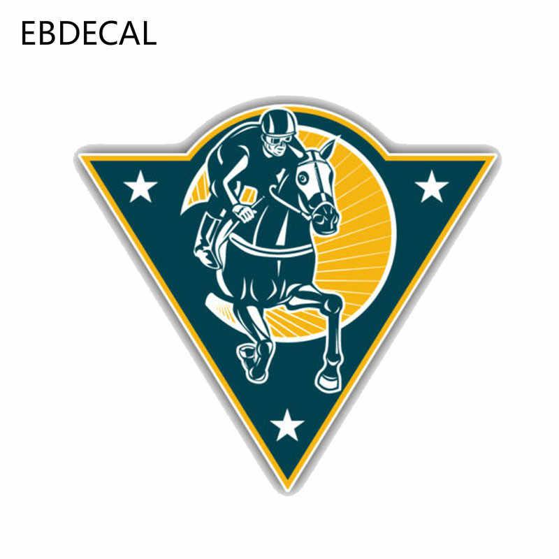 EBdecal kişilik atlı spor at yarışı otomatik araba/tampon/pencere/duvar çıkartma çıkartmaları DIY dekor CT10602