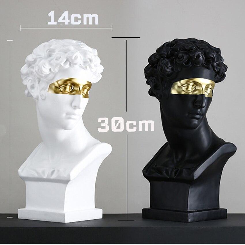 Giuliano Medici Statue David Resin Statues For Decoration David Head Sculpture Figurine Nordic Decoration Home Accessories