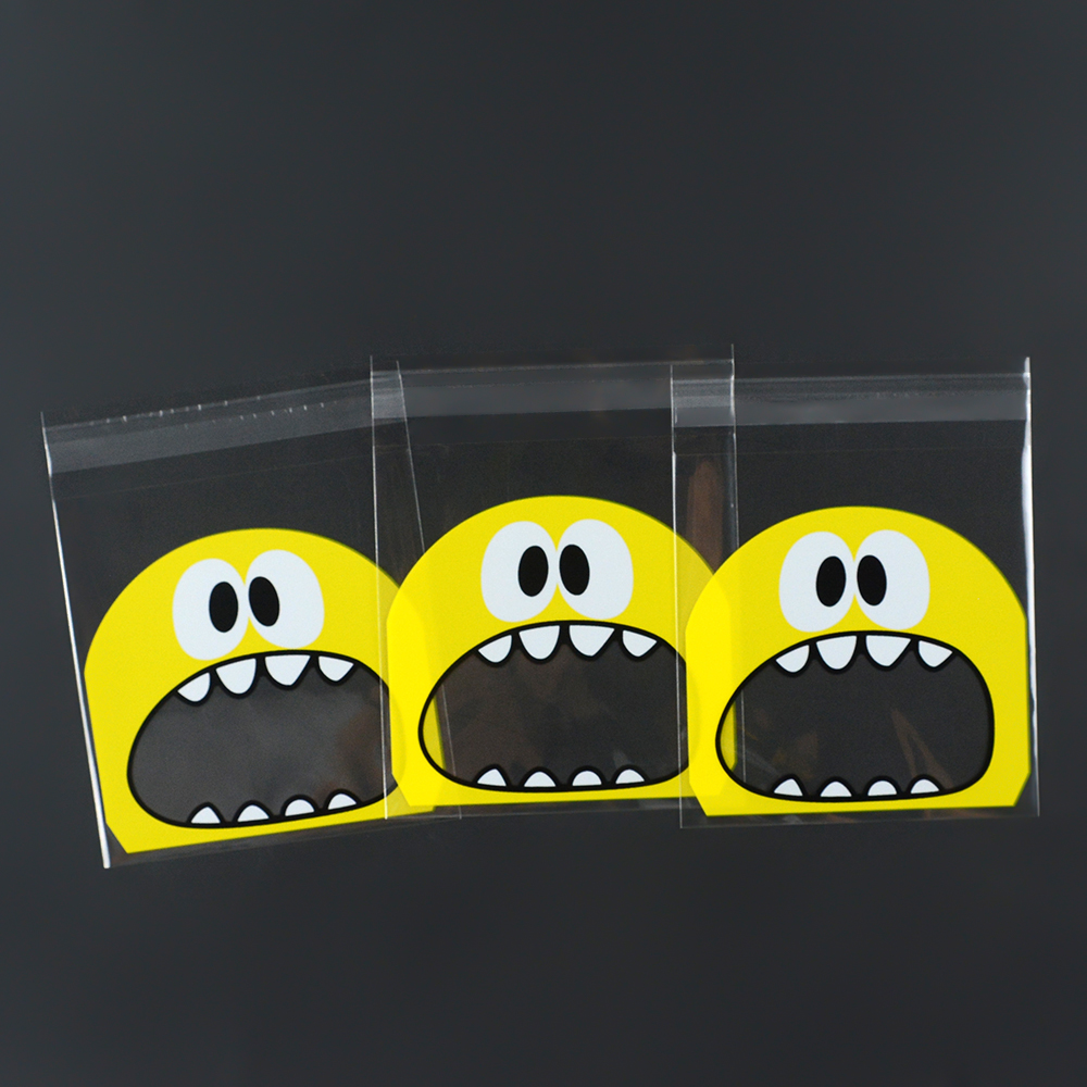 Image 4 - 100pcs/Lots Baking Package Cartoon Big Mouth Monster Self Sealing Bag  Candy Chocolate Gift Packaging Party Supplies-in Gift Bags & Wrapping Supplies from Home & Garden