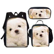 Kids School Bags Cute Dog Puppy Pattern Children Book Bag Bagpack Cute Animal Primary Students Backpack/Lunch Box/Pen Bags