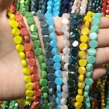20 sztuk 8x4mm jednolity kolor Faceted paciorki szklane płaskie okrągłe kryształowe Austria koraliki do tworzenia biżuterii kolczyki DIY naszyjnik ustalenia