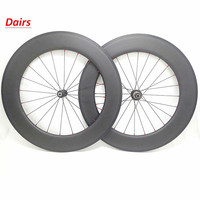 700c carbon wheels 88x23mm clincher tubular powerway R51 Straight pull road bicycle wheelset bikes road wheels 1432 spokes|carbon wheels 88mm|carbon wheels|road wheels -