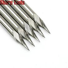0.2-0.5mm Tip 3.175*30 Angle V Carving 1 Flute Spiral Carbide Engraving Bits CNC Router Tools Grooving Milling Cutters for Metal