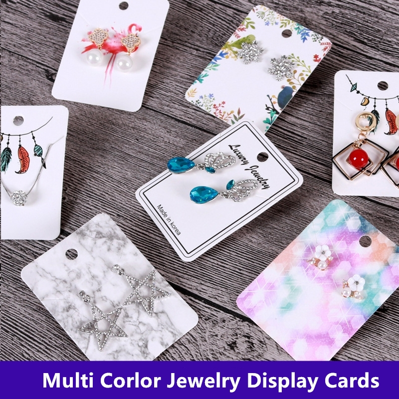 Earring-Card Necklace Jewelry Package Cards-5x7cm Marble Flamingo 10pcs DIY title=