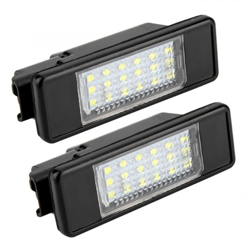 2pcs 18 <font><b>LED</b></font> Beads License Plate <font><b>LED</b></font> Light <font><b>Lamp</b></font> for Citroen C2 C3 C4 C5 C6 DS3 for <font><b>PEUGEOT</b></font> 106 207 307 <font><b>308</b></font> 406 407 508 1007 3008 image