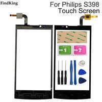 Pantalla táctil para teléfono móvil de 5,0 pulgadas, pantalla táctil para Philips S398 S 398, herramientas de Sensor de lente de Panel digitalizador frontal de cristal táctil