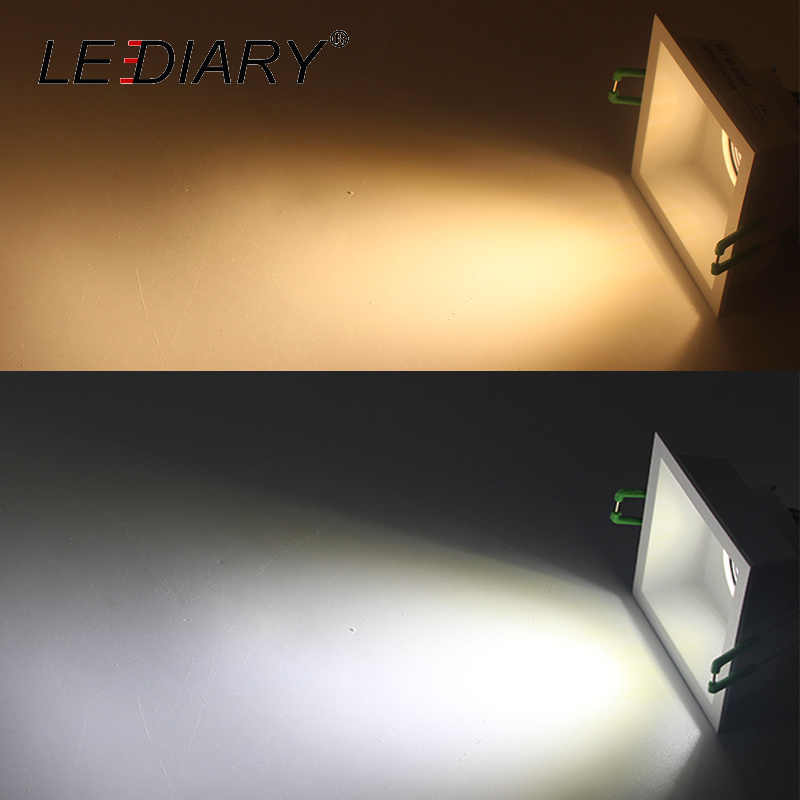 LEDIARY LED Spot Downlight GU10 montaż matowy biały 90-260V sufitowa lampa wpuszczana 75mm 90mm Cut Hole żarówka wymienne oprawy oświetleniowe