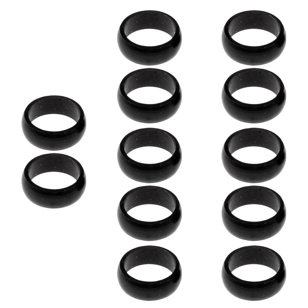 MagiDeal 12pcs Aluminum Dart Sharft Protector Flights O Rings 4.5mm Spare Gripper Ring Black
