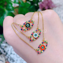 15pcs,Women Necklace, Fashion Jewelry, Pop Charms, Eyes Design,3 Colrs, Can Wholesale,