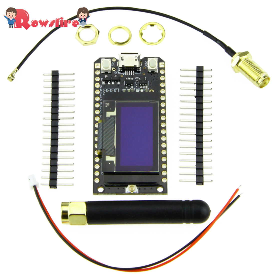 LoRa 868MHz/915MHz ESP32 0.96-Inch Blue Screen OLED Bluetooth Wifi Module With Cable For Arduino
