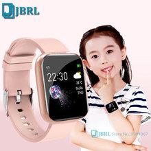 Cyfrowy zegarek dzieci dzieci sport zegarek Bluetooth elektroniczny zegarek na rękę LED dla dziewcząt chłopców dziecko Student inteligentny zegar godziny tanie tanio JBRL 3Bar Stop Klamra CN (pochodzenie) Szkło 24cm Papier 40mm Silikon AA19-K1020030702 Plac 20mm 10mm Odporny na wstrząsy