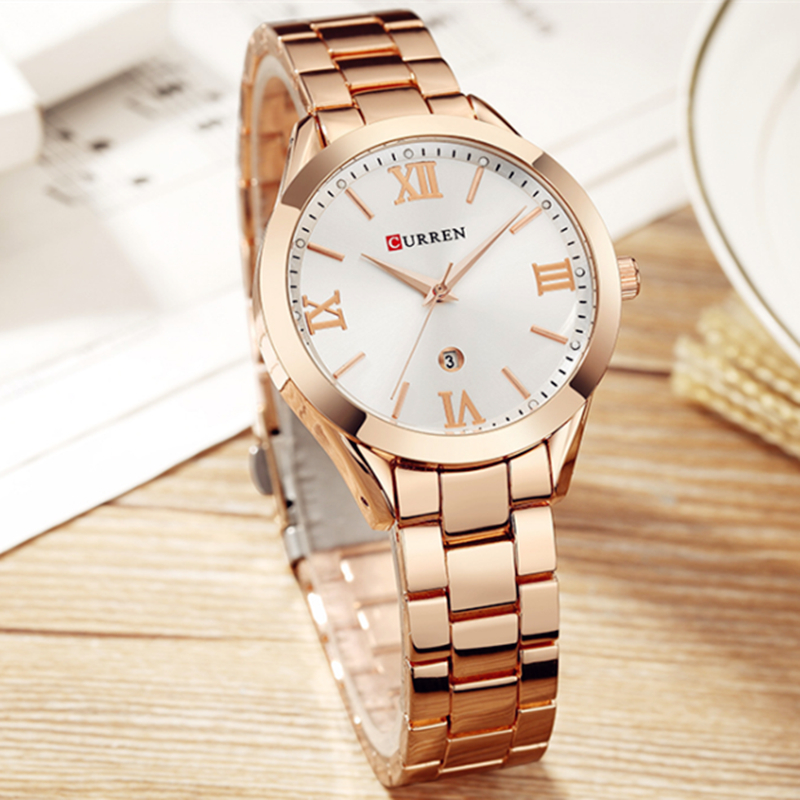 CURREN Bracelet Watches Female 9007 Femme Women's Ladies Clock Feminino Steel Montre