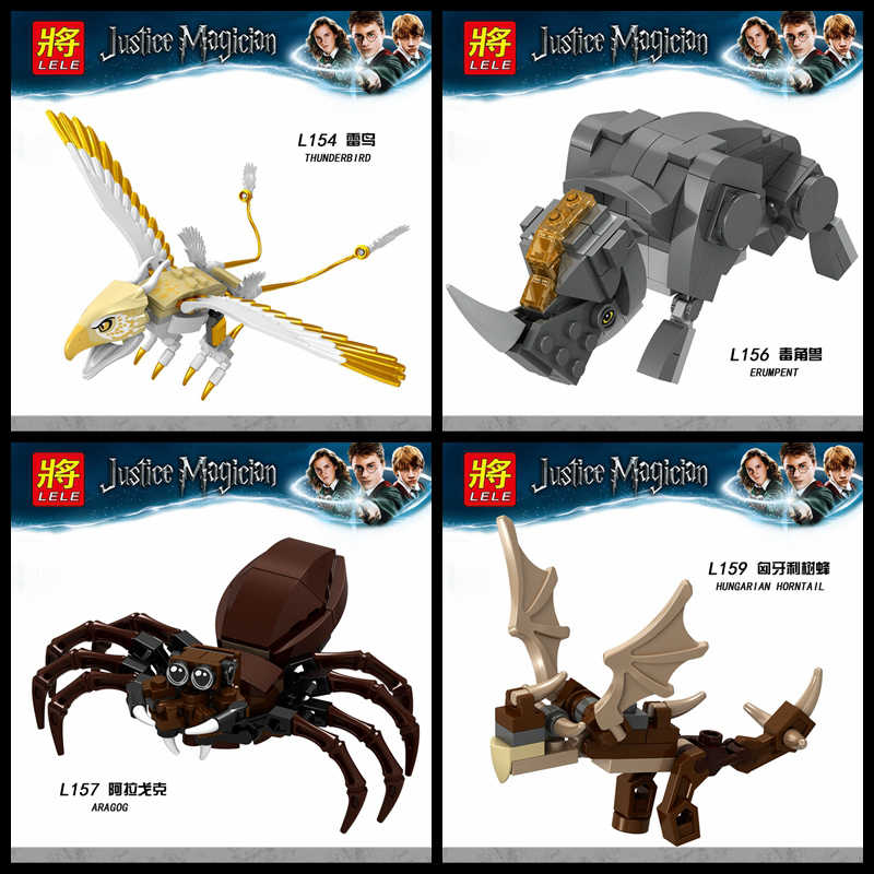 Legoing Animals Figures Spider Aragog Beasts Hungarian Horntail Thunderbird Model Building Blocks Toy For Children Legoing Block