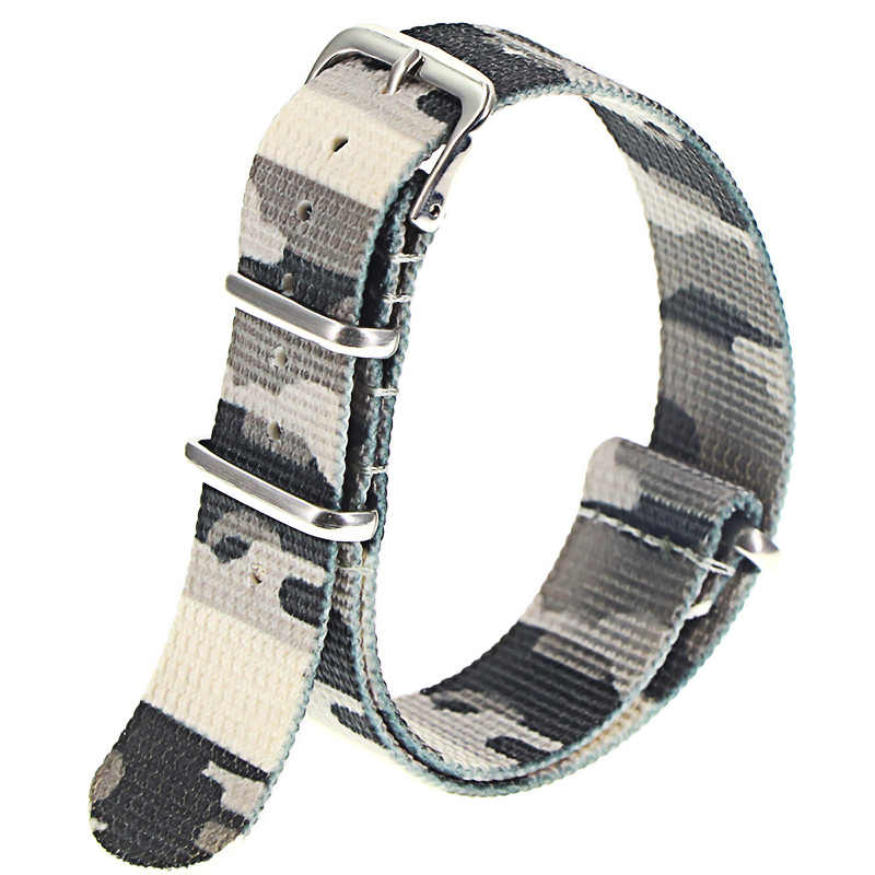 Correa de reloj de alta calidad estilo Nato de nailon de 18mm, 20mm y 22mm, correa de reloj informal militar James Bond 007