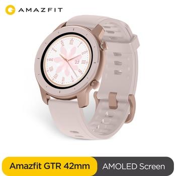 Original versión Global Amazfit GTR 42mm reloj inteligente 5ATM resistente al agua Smartwatch 12 días batería Control de música para Android IOS