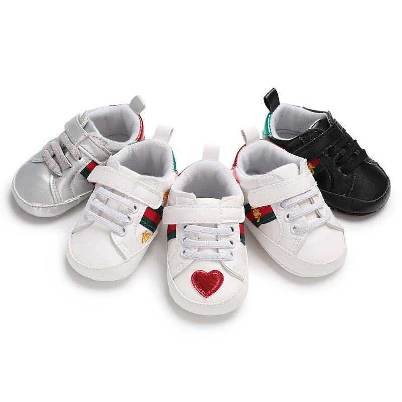 Baby Girls Boys Shoes Soft Sole 0-18 Months Anti-Slip  Infant Prewalker Toddler Sneakers Booties