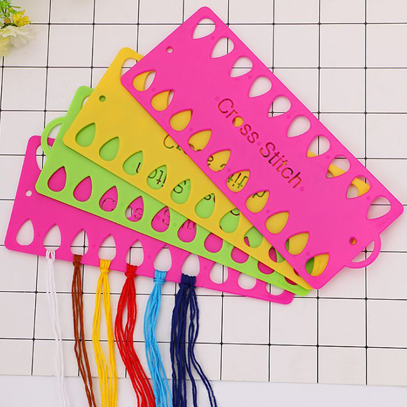 Plastic Cross Stitch Row Line Tool 20 Positions Thread Board Thread & Yarn Organizer Embroidery Accessory-1