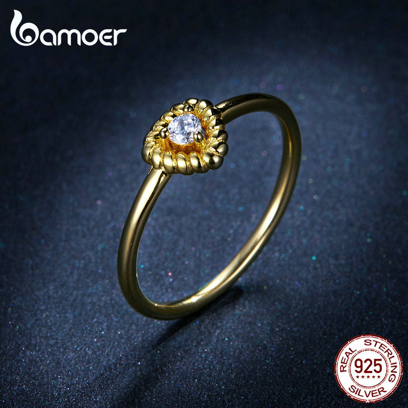 Image 3 - bamoer Gold Color Silver 925 Jewelry New Fashion Triangle Necklae Stud Earringd Ring Jewelry Sets for Women Lady Bijoux ZHS169Jewelry Sets   -