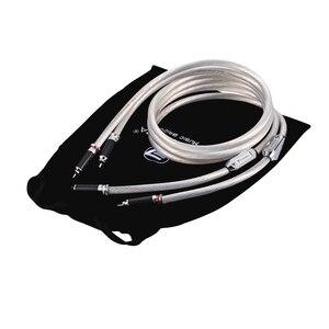 Image 3 - High end Frankrijk AUDIOMECA Single Crystal Zilver audiokabel HIFI Dubbele RCA Signaallijn rca kabel