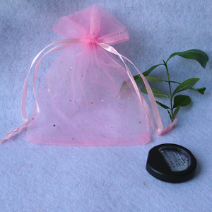 Image 3 - 1 10 Uds 15*20cm rosa púrpura lentejuelas Drawable Organza bolsas para joyería Regalo boda dulces embalaje bolsas pequeñas
