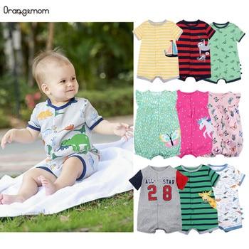 Официальный магазин Orangemom, летняя одежда для мальчиков, короткий комбинезон для новорожденных, одежда для маленьких мальчиков, детские комб...