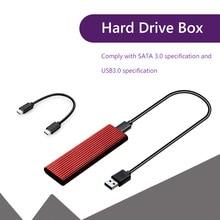 M.2 SSD Disk Hard Drive Enclosure Box Case Dual Protocol USB3.1 NVME NGFF M/B Key External 10Gbps High Speed