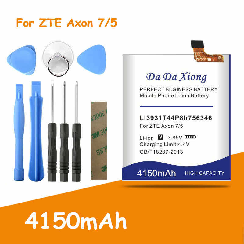 Free shipping 4150mAh LI3931T44P8h756346 Battery for ZTE Axon 7 5.5inch A2017 Replacement batteria + free tools