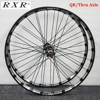RXR Carbon Hub koła mtb et 26 27 5 29 #8222 hamulec tarczowy do roweru górskiego 5 łożysk koło rowerowe zestawy 7-11Speed przez oś QR koła mtb tanie i dobre opinie Other YX700121BV Stop waterproof Rowery górskie 26 27 5 29 inch about 860g Front wheel 960g Rear wheel 24 Holes (Front Rear)