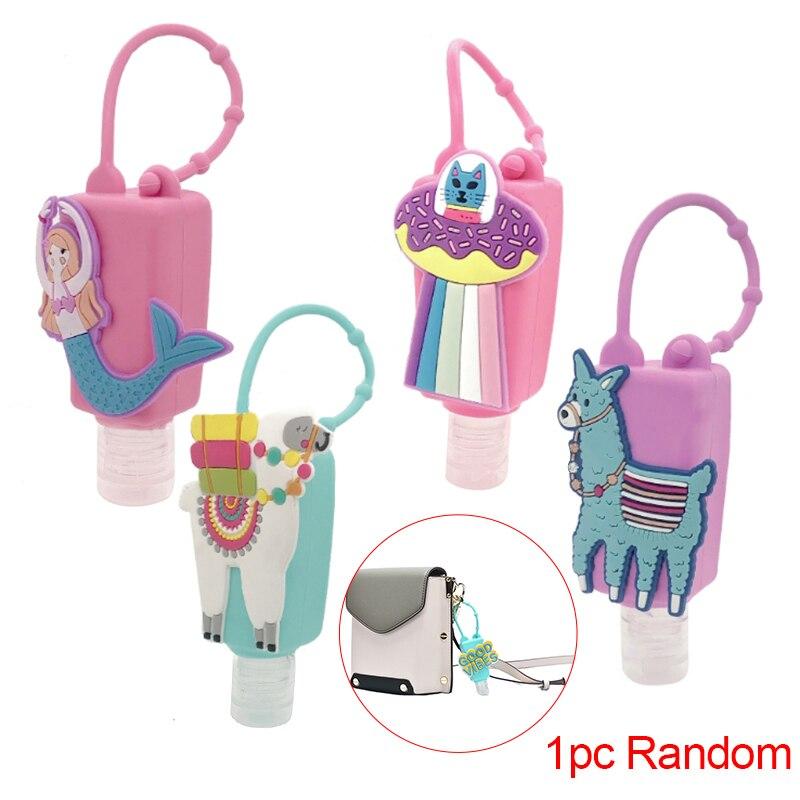 1PCS 30ml Multi Style Silicone Mini Hand Sanitizer Hand Gel Holder Portable Safe Gel Holder Travel Shampoo Soap Dispenser Bottle