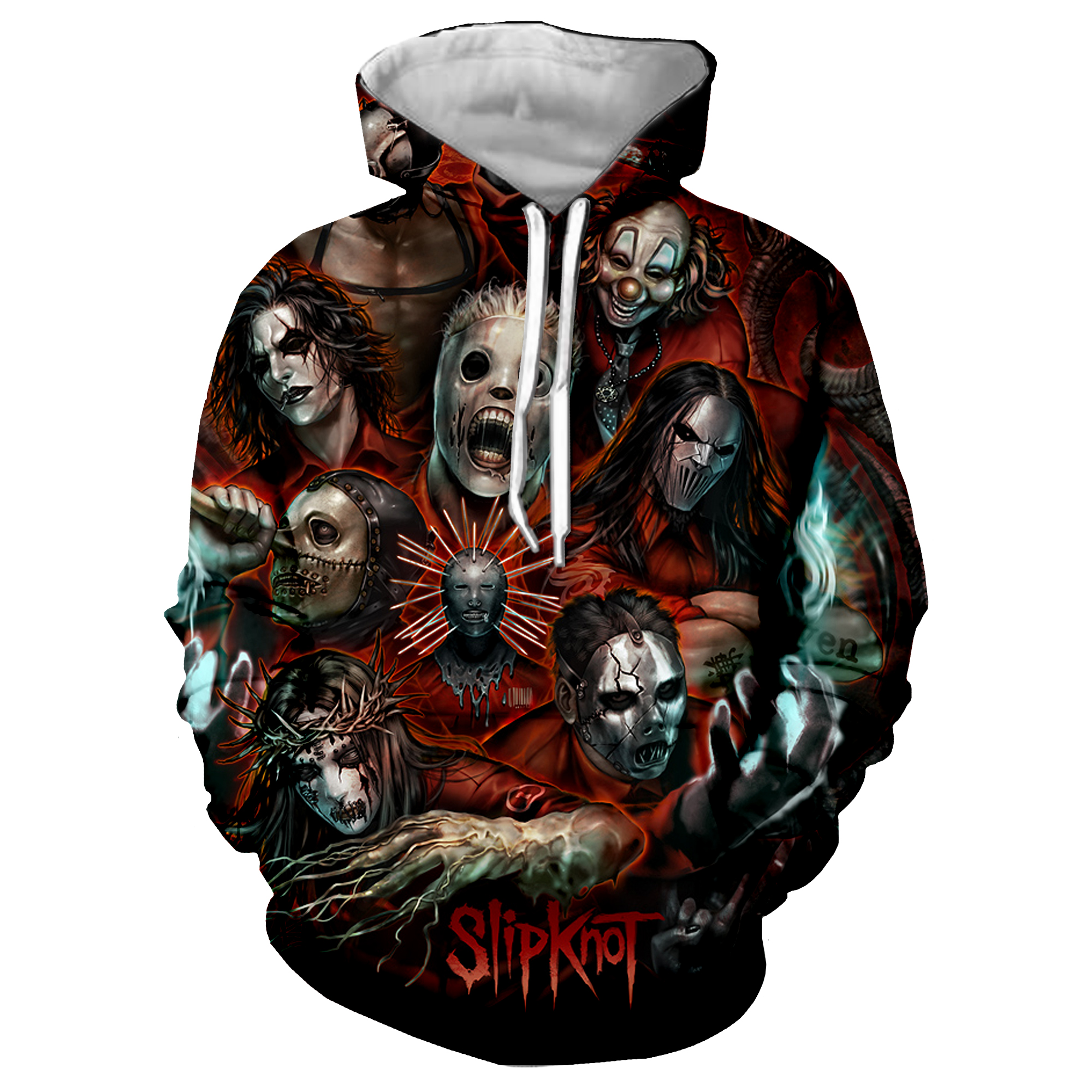 Slipknot 3D Print Cool Rock Jacket Men/women Hip Hop Sweatshirt Hoodies Unisex Autumn Streetwear Hoodies Men Clothes 2019 5XL