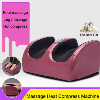 Electric Foot Vibrator Massager Machine Relaxation Plantar Feet Calf Arm Infrared With Heating Therapy Shiatsu Kneading Massage
