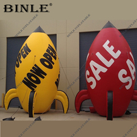 Opening Ceremony event day decor inflatable rocket model with logo inflatable rocket ship balloon for sales promotion