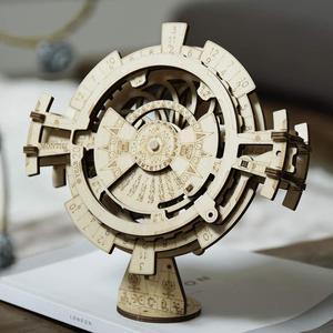 Image 2 - Robotime ROKR wieczny kalendarz 3D Puzzle drewniane zabawki montaż Model zestaw do budowania zabawki dla dzieci LK201 Drop Shipping
