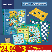 MiDeer 9-in-1 Board Game Parent-Child Interactive Game Toy Educational Multifunctional Table Game Kid Flying Chess >3Y Gifts children s 16 in 1 multi function board game board game parent child puzzle early education chess toys children s gifts