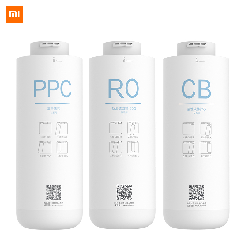 Original Xiaomi Water Purifier Filter PPC Composite Filter Reverse Osmosis Filter Rear Activated Carbon Filter For C1 And MRB23