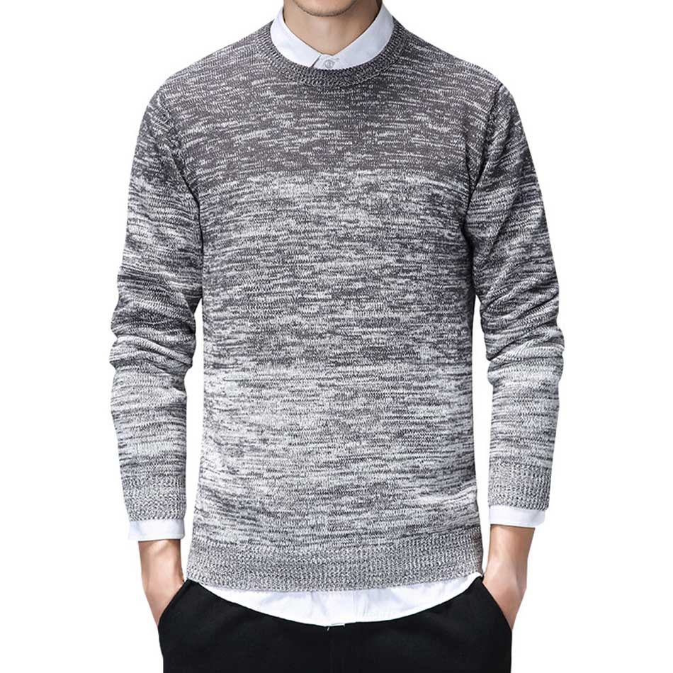 Autumn Sweater Men Cotton Knitted Pullover Men Clothes Fashion Casual O-Neck Pull Homme Spring Mens Sweater Long Sleeve Coats