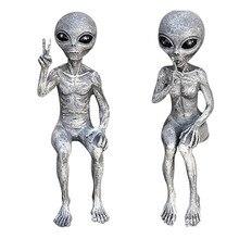 Figurines créatives Allien, 15cm, Statue d'extraterrestre de l'espace extra-atmosphérique, poupées martiennes ET modèles de jouets, décors de maison, cadeaux pour enfants