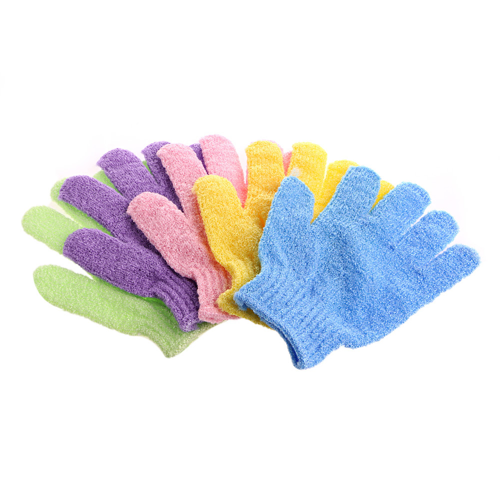 1Pc Bath Glove Exfoliating Wash Skin Spa Massage Shower Scrub Scrubber